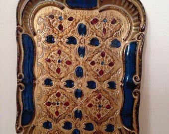 Vintage Soft Gold Italian Tray