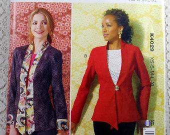 Kwik Sew 4029, Misses' Jacket Sewing Pattern, Lined Jacket Pattern, Misses' Pattern, Misses' Size XS, S, M, L, Xl, Uncut