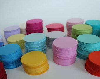 "2"" Cardstock circles- 50, scrapbooking, favor tags, cupcake toppers, garland, diy card stock, paper crafts"