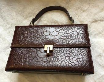 1960's Brown Top Handle Bag