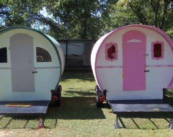 Custom Gypsy Wagon Vardo Camper Caravan Glamper Tiny House Chuck Wagon 800 Lbs. Bohemian Popup Shop Photo Booth
