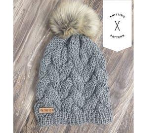 The Iailey Slouch PATTERN // Knitting pattern // Knit hat // Hat pattern //