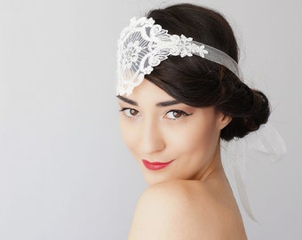 Wedding Accessories Bridal Accessories Lace Headpiece Bridal Headband Bridal Headpiece Lace Headband Retro Headband Inspirational/ SERVOLA