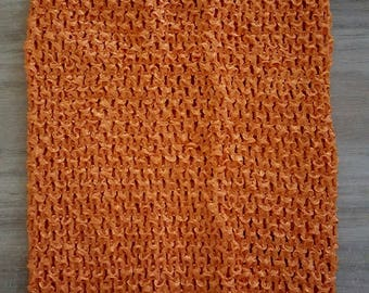Orange crochet for making tutu dress STRAPLESS stretch 2-6 years