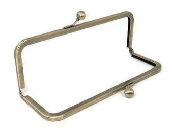 8 X 3 Inch Antique Brass Purse Frame  FREE U.S. SHIPPING