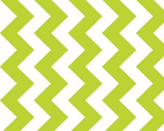 CLOSEOUT SALE Lime Medium Chevron by Riley Blake 1 Yard, Manufacturer Cut