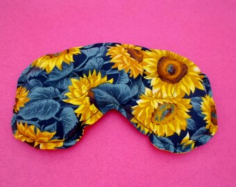 All Natural Sinus and Headache and Allergy Relief Mask - Sunflowers