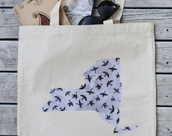 New York Tote Bag - NY Canvas Bag - ANY State + More Fabric Options Available!