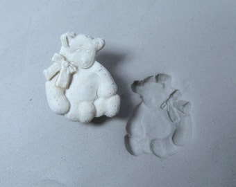 stamps for clay - clay tools - clay stamps - pottery stamps - ceramic stamps - bisque stamps - bear stamp   ( 266 )