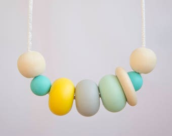 Nursing Necklace | Teething Necklace | Teething Jewellery | New Mum Gift | Silicone Necklace | Baby Shower Gift | Silicone Teething | Baby