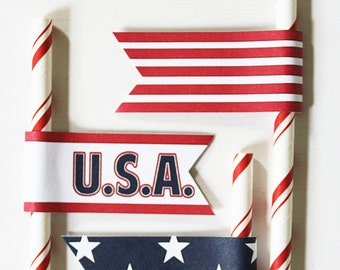 PRINTABLE Mini #Patriotic #Flags - #DIY