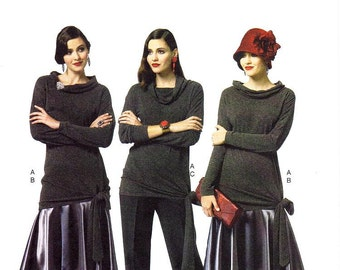 Sz 6/8/10/12/14 - Butterick Separates Pattern B5858 - Misses' Retro Style Top, Skirt and Pants - Modern Art Deco