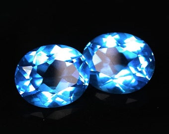 8.05 ctw. blue topaz loose gemstone.