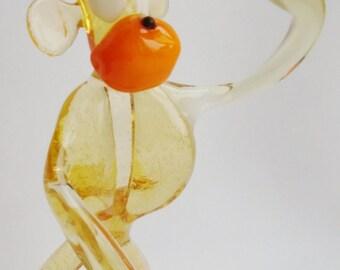 """Handmade Art Glass Figurine """"Ape"""" 17"""