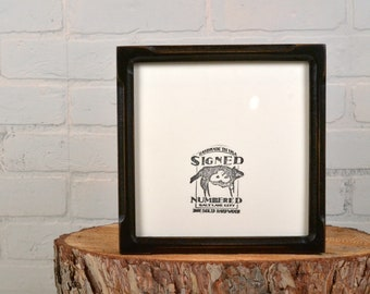 """8x8"""" Square Picture Frame in Deep Bones Canvas Depth Style and in Finish COLOR of YOUR CHOICE - 8x8 Photo Frame"""
