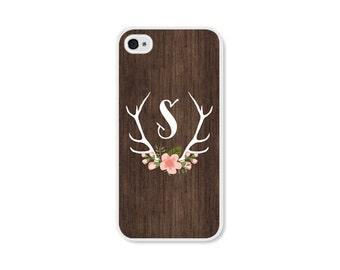 iPhone 6 Case iPhone SE Case Phone Case Custom iPhone 8 Case Floral Phone Case Samsung Galaxy S7 Case Floral iPhone 5 Case Deer Wood Pink