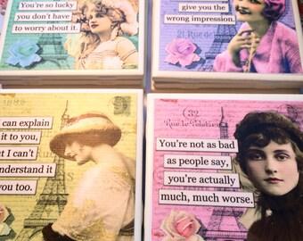 """Coasters """"Sarcastic Ladies"""""""