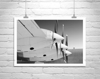 Black and White Airplane Art, Aviation Decor, Pilot Gift, Vintage Aircraft Art, Convair Airplane, Military Aircraft Photo, Aviation Gift