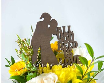All you Need is Love Link and Zelda Inspired - Event Cake Topper - Laser Cut Wedding Cake Topper