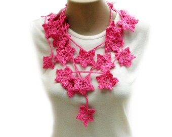 PDF Tutorial  Pattern... Crochet Scarf, Lariat  Necklace -2