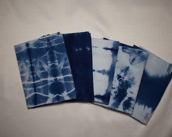 Hand Dyed Indigo fabric bundle