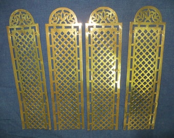 2 Pair of French Château Brass Door/Finger Plates.