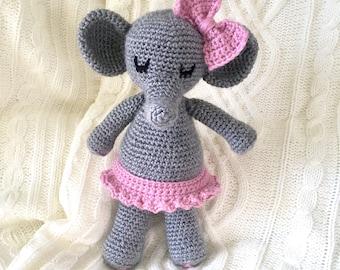 Elephant Handmade/Crocheted Stuffed Toy