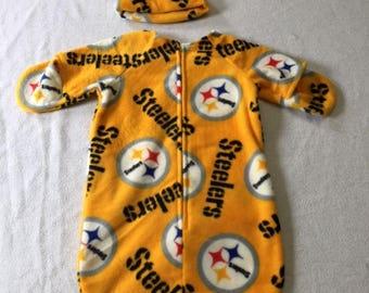 Pittsburgh Steelers Infant Sleep Sack, Baby Sleeping Bag, Baby Sleeper, Baby Pajamas