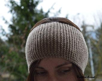 Knit Wool Headband, Warm Winter Headband For Men, Hand Knit Headband For Women, Alpaca Wool Headband, Handmade Warm Headband, Knit Headband