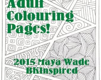 Zentangle Zendoodle Coloring Page Pdf
