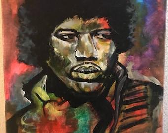 Jimi Hendrix acrylic painting