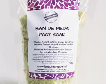 Purifying and Relaxing Foot Soak with d'Epsom Salt, Dead Sea Salt, Neem and Tea Tree Essential Oil - 150g