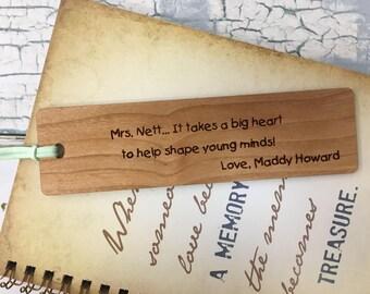 Personalized Bookmarks, Teacher Gifts, Teacher Appreciation, Principal Retirement, Bookworm, Reading Teacher, Unique Bookmarks, Bookmarkers