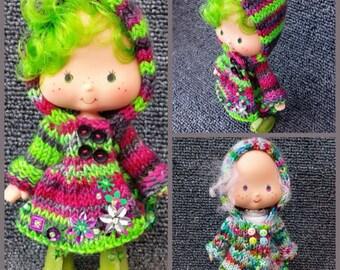 PDF knitting Pattern for Hooded Strawberry Shortcake coat
