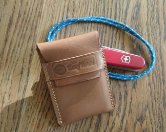 Slim pocket wallet, leather slim wallet