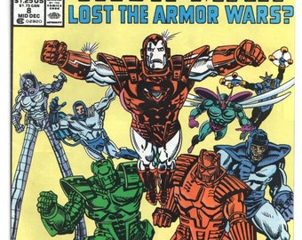 What if..Iron Man.. - Issue 8 - Dec 1989 - Copper Age - Newsstand Issue - NM+ - Marvel Comics