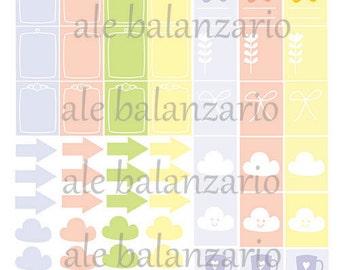 Pastel Color Stickers For Your Planner