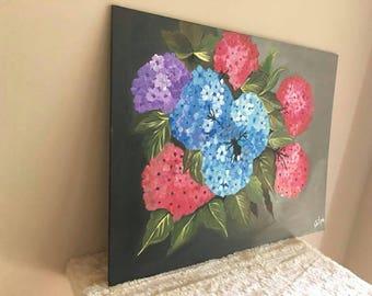 Acrylic Hand Painted FlowerBunch