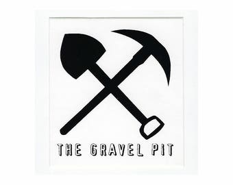 The Gravel Pit - Bumper Sticker - 1990's