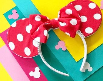 Mouse Ear   Disney Ears   Minnie Ears   Minnie Mouse Ears   Mouse Ears   Polka Dot Mouse Ears  Disney    Mickey Mouse Ears   Disney Headband