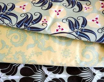 Home Decor Canvas Fabric Retired Amy Butler Nigella by Rowan Three Patterns 4 3/4 Yards Total 320A