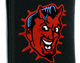Classic Psychobilly Red Devil Black Tri-fold Wallet with Chain - YDS-EPT267-WALLET