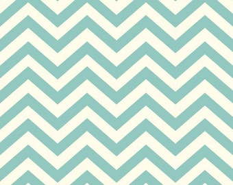Organic Fitted Crib Sheet | Mint Chevrons in Knit Cotton