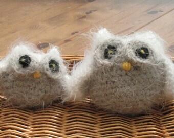 Crochet snowy owls