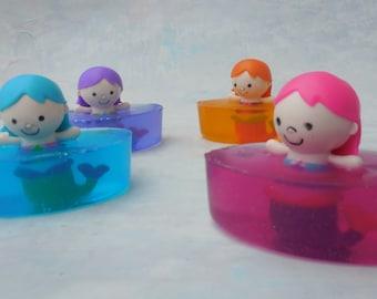 Mermaid Soap - Mermaid Party Favors - Mermaid Birthday Party - Toy Soap - Kids Soap - Novelty Soap - Soap Party Favors - Stocking Stuffers