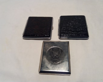 Vintage Hard Cigarette Case - Set of Three