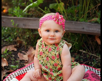 baby romper- romper-  Baby Bubble Romper- Ruffle Romper - Romper - toddler romper- girl birthday outfit-Floral Romper