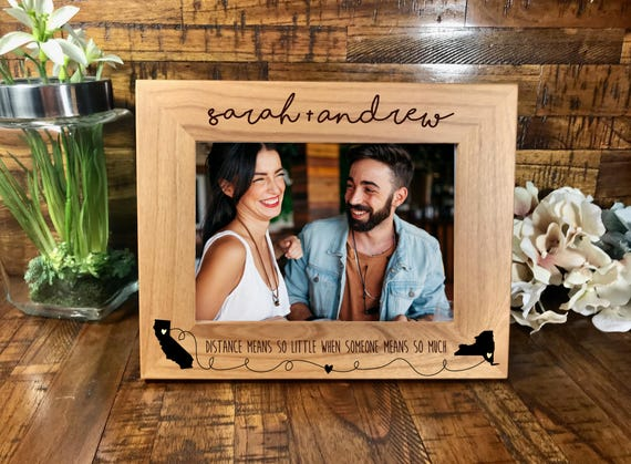 Personalized Long Distance Relationship Picture Frame, Long Distance Love, Long Distance Boyfriend Long Distance Girlfriend Gift Valentine's by Etsy