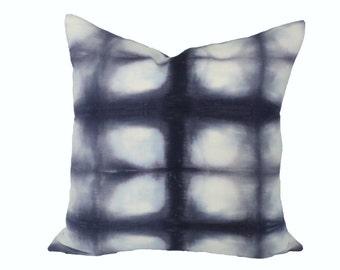 Shibori Grid designer pillow covers - Made to order - Rebecca Atwood