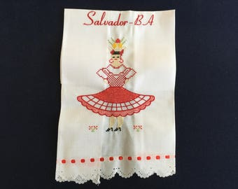 Kitchen Towel with a Red Dress Design